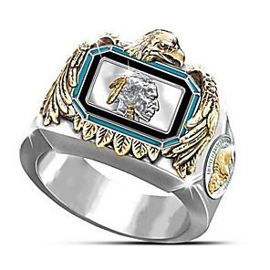 povoljno Prstenje-Muškarci Prsten 1pc Zlato mesing Pozlaćeni Geometric Shape Moda Dnevno Praznik Jewelry Geometrijski Cvijet Cool