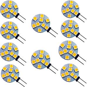 ieftine Becuri LED Bi-pin-10pcs 2 W Becuri LED Bi-pin 150 lm G4 9 LED-uri de margele SMD 5050 Alb Cald Alb 12 V