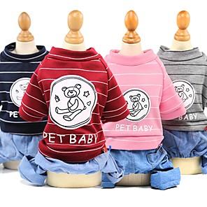 ieftine Imbracaminte & Accesorii Căței-Câini Pisici Haine Hanorca Ținute Îmbrăcăminte Câini Rosu Roz Albastru Închis Costume Husky Corgi Beagle Bumbac Urs Slogan Casul / Zilnic stil minimalist XS S M L