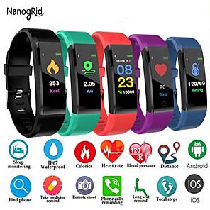 ieftine ceasuri digitale pentru femei-Pentru femei Ceas digital Casual Modă Negru Albastru Roșu Silicon Piloane de Menținut Carnea Mov Roșu-aprins Trifoi Rezistent la Apă Bluetooth Smart 30 m 1set Piloane de Menținut Carnea