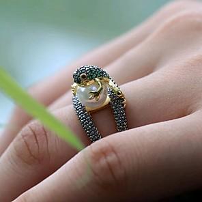 ieftine Colier la Modă-Pentru femei Inel Verde Imitație de Perle Articole de ceramică Zilnic Bijuterii #D Animal Draguț