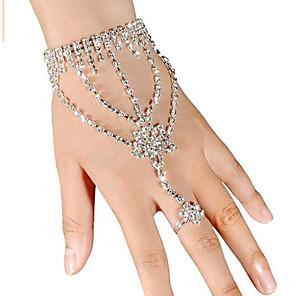 ieftine Imbracaminte & Accesorii Căței-Pentru femei Bratari Wrap Ring Bracelets Αστέρι femei Iced Out Ștras Bijuterii brățară Alb Pentru Nuntă Petrecere Zilnic Mascaradă Petrecere Logodnă Bal / Argilă / Diamante Artificiale