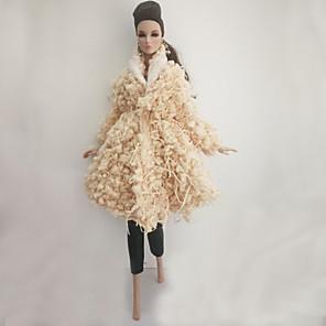 ieftine Haine Păpușă Barbie-Costum de păpușă Pentru Barbie Imprimeu Modă Poliester Geacă Pentru Fata lui păpușă de jucărie