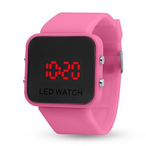 ieftine ceasuri digitale pentru femei-Pentru femei Ceas digital O noua sosire Modă Negru Roșu Verde Silicon Piloane de Menținut Carnea Alb Negru Albastru piscină Calendar Cronograf Lumină LED 1 piesă Piloane de Menținut Carnea