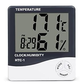 povoljno Testeri i detektori-unutarnja soba lcd elektronski mjerač vlažnosti digitalni termometar higrometar meteorološka stanica budilica htc-1