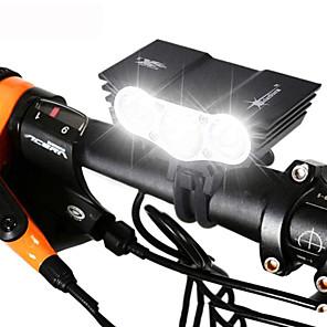 ieftine Frontale-LED Lumini de Bicicletă Iluminat Bicicletă Față Becul farurilor Ciclism montan Bicicletă Ciclism Rezistent la apă Reîncărcabil Moduri multiple Foarte luminos 18650 3000 lm Baterie Camping / Cățărare
