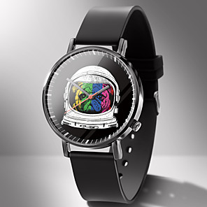 ieftine Brățări-Bărbați Ceas Sport Quartz Model Animal Desen animat Cronograf PU piele Negru Analog - Alb Negru Galben