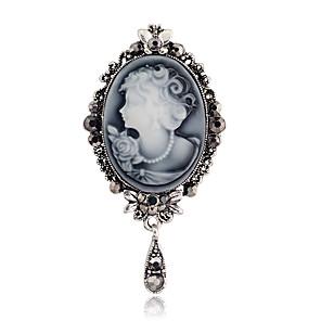 ieftine Inele-Pentru femei Cristal Broșe Faţă Flower Shape Clasic Elegant Broșă Bijuterii Auriu Argintiu Pentru Petrecere Muncă
