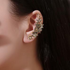 ieftine Cercei-Pentru femei Cercei cu Clip Cătușe pentru urechi Sculptură Floare cercei Bijuterii Auriu / Argintiu Pentru Bal Concediu Club Măr Festival