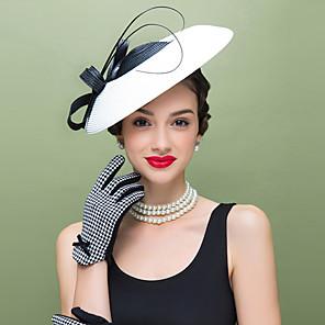 ieftine Bijuterii de Păr-Pană / Poliester Kentucky Derby Hat / Palarioare / Veșminte de cap cu Floral 1 buc Nuntă / Ocazie specială / Casual Diadema