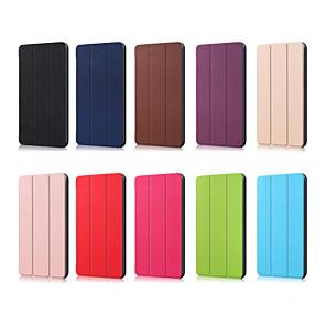 povoljno Huawei slučaj tableta-Θήκη Za Huawei MediaPad Huawei Mediapad T5 10 / Huawei Mediapad M5 Lite 10 Origami Korice Jednobojni PU koža
