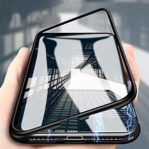 Недорогие Чехол Samsung-двухсторонний металлический корпус из закаленного стекла, подходящий для samsung galaxy2019 a10 a20 a30 a40 a50 a60 a60 a80 a80 a90 двухсторонний магнитный адсорбционный металлический защитный футляр,