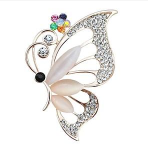 Χαμηλού Κόστους Καρφίτσες-Γυναικεία Cubic Zirconia Καρφίτσες Κλασσικό Πεταλούδα Κλασσικό Βασικό Καρφίτσα Κοσμήματα Λευκό Για Πάρτι Αποφοίτηση Δώρο Καθημερινά Φεστιβάλ