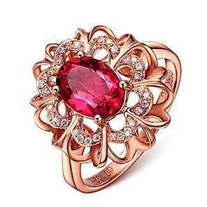povoljno Prstenje-Žene Prsten 1pc Zlato Pozlaćeni Ovalnog Stilski Dar Dnevno Jewelry Cvijet Cool
