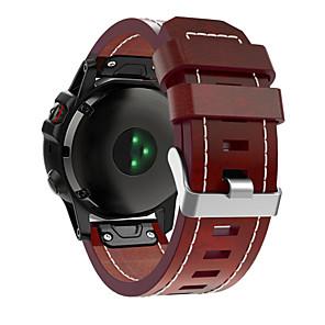 Недорогие Часы и ремешки Garmin-Garmin умные часы кожаный ремешок для fenix 6x / 5x / 3 / 3hr / 5x plus / 6xpro / d2 / mk1 garmin sport бизнес-группа высококачественная кожаная петля из натуральной кожи ремешок для браслета quickfit