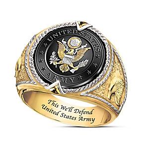 povoljno Prstenje-Muškarci Prsten 1pc Zlato mesing Pozlaćeni Geometric Shape Moda Dnevno Praznik Jewelry Geometrijski Totem Series Cool
