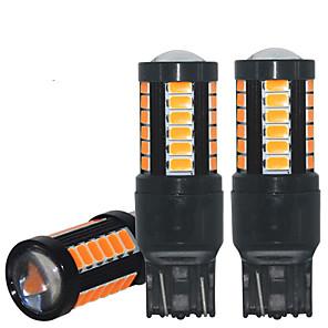 Недорогие Фары для мотоциклов-2 шт. Canbus t20 светодиодные 7440 w21w 7443 w21 / 5 Вт стоп-сигнал автомобиля светодиодные лампы лампы для указателя поворота стоп-сигнал без ошибок 12-24 В