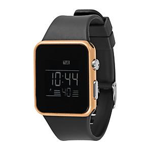 ieftine ceasuri digitale pentru femei-Pentru femei Ceas digital Piloane de Menținut Carnea Silicon Negru / Alb / Pink Rezistent la Apă Cronograf Model nou Piloane de Menținut Carnea O noua sosire Modă - Negru Alb Albastru celest