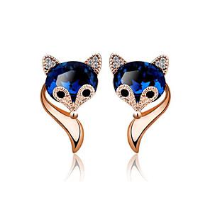 ieftine Cercei-Pentru femei Cercei Geometric Viulpe Stilat Placat Auriu cercei Bijuterii Auriu / Argintiu Pentru Cadou Zilnic 1 Pair