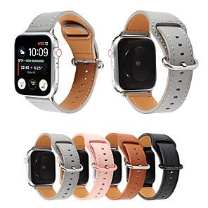 povoljno Apple Watch remeni-kožni remen za traku s jabučnim satom 38 mm 44 mm 40 mm 42 mm zamjenski trakovi od prave kože za narukvicu iwatch serije 5/4/3/2/1