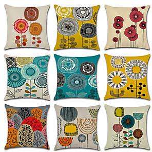 povoljno Zidni ukrasi-Jastučić od lanenog jastuka od 9 komada, cvjetni geometrijski vjenčani jastuk za bacanje
