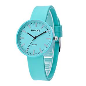 ieftine Cuarț ceasuri-Pentru femei Quartz Quartz minimalist Cronograf Analog Alb Negru Albastru piscină / Un an / Silicon / Un an