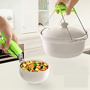 ieftine Ustensile Bucătărie & Gadget-uri-pliabilă din oțel inoxidabil fierbinte clemă suport pentru oală cu aburi pentru aburi placă de izolare termică Tong unelte de bucătărie anti-fierbinte