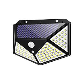 ieftine Aplice de Exterior-brelong ip65 led rezistent la apă solar exterior sport senzor lumină 100 leds faruri de perete pentru gard grădină grădină scări