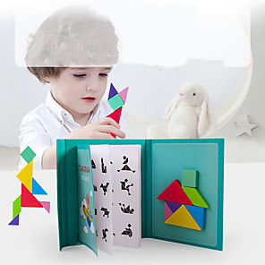cheap Display Models-Tangram Building Blocks Jigsaw Puzzle Magnetic Kid's Unisex Boys' Girls' Toy Gift / Wooden Puzzle