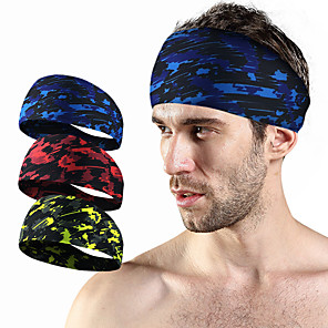 hesapli Spor Destekleri-Headbands için Koşma Fitness Jogging Nem Emici Rahat Dayanıklı Erkek Kadın's Pamuk / Polyester 1 Parça Spor ve Outdoor Kırmzı Yeşil Mavi
