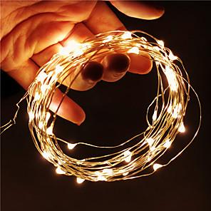 ieftine Fâșii Becurie LED-10m Fâșii De Becuri LEd Flexibile Fâșii de Iluminat 100 LED-uri SMD 0603 1 buc Alb Cald Alb Multicolor Crăciun Anul Nou Rezistent la apă USB Petrecere 5 V Alimentat USB