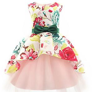 povoljno Muške majice s kapuljačom i trenirke-Dijete koje je tek prohodalo Djevojčice Color block Bez rukávů Iznad koljena Haljina Blushing Pink