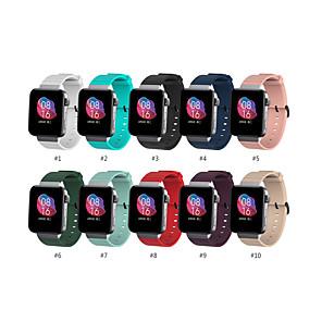 Недорогие Ремешки для спортивных часов-Ремешок для часов для Mi Smartwatch Xiaomi Спортивный ремешок силиконовый Повязка на запястье