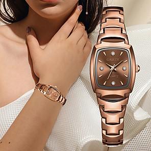 ieftine Cuarț ceasuri-Pentru femei Quartz Quartz Oțel inoxidabil Argint / Roz auriu Cronograf Draguț Model nou Analog O noua sosire Elegant - Roz auriu Alb Argintiu Un an Durată de Viaţă Baterie