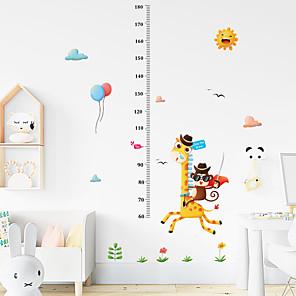 ieftine Acțibilde de Decorațiuni-copii înălțime grafică de perete autocolant decor desen animat girafă înălțime riglă autocolant perete casă decorațiuni de perete art poster sticker