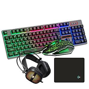 povoljno Tipkovnica i miš-USB kabel ožičene lol gaming tipkovnice za glavu i jastučići kombinirani ovjes iluminous gamers 4 kom