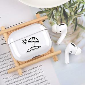 ieftine Cabluri de Adaptor AC & Curent-carcasa pentru apple scene map air pods pro stick figure high transparent pc material bluetooth headset shell protector jmgd