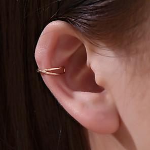 ieftine Cercei-Pentru femei Cercei cu Clip Cătușe pentru urechi Crossover Mini cercei Bijuterii Auriu / Alb / Auriu Pentru Absolvire Zilnic Muncă Festival