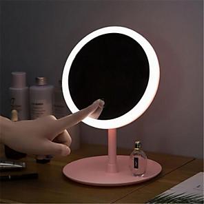 ieftine Colier la Modă-machiaj lumină de oglindă retroiluminată cu oglindă naturală lumină de zi led de culoare vană detașabilă / bază de depozitare 3 moduri de