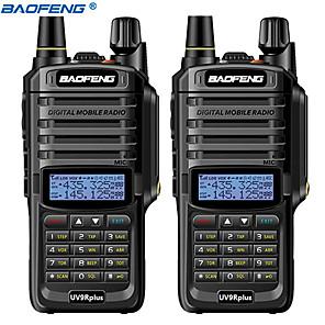 povoljno Waljkie talky uređaji-2pcs baofeng uv-9r plus 10km 4800 mah 10 w vodootporan walkie talkie velika snaga dvosmjerni radio vhf uhf prijenosni radio walkie tokie uv9r plus