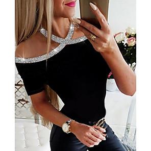 ieftine Gadget Baie-Pentru femei Tricou Mată Negru
