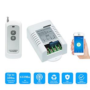 povoljno Sigurnosni senzori-pametni prekidač ac220v 1ch relejni prekidač / kontrola mobilne aplikacije / 2.4g wifi / wifi rf daljinsko uključivanje / isključivanje glasovna kontrola / funkcija vremena / povratne informacije o