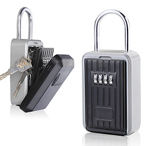 Недорогие VGA-на стене открытый ящик для хранения ключей замок 4-значный кодовый ключ пароль сейф коробка сбрасываемый кодовый ключ держатель hider