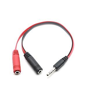 ieftine Audio & Video-jack de aur de 3,5 mm auriu de înaltă calitate, adaptor de conectare pentru divizor audio de sex masculin la 2 femele pentru tabletă de telefon mobil