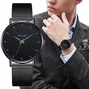 ieftine Ceasuri Bărbați-Bărbați Ceas Elegant Quartz Stil Oficial Stil modern Oțel inoxidabil Negru / Argint 30 m Rezistent la Șoc Ceas Casual Mare Dial Analog - Digital Clasic Modă - Auriu Negru+Auriu Roz auriu Doi ani