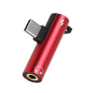 ieftine Audio & Video-2 în 1 adaptor jack de 3,5 mm tip-c USB usb c la 3,5 mm converte pentru căști pentru xiaomi huawei honor type-c - 3,5 mm adaptor audio jack