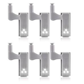 povoljno LED noćna rasvjeta-6pcs univerzalno led ispod ormara svjetlosni ormar unutarnja šarka ormar ormar senzor svjetlo kućna kuhinja noćno svjetlo