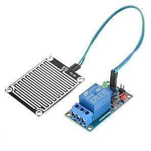ieftine Senzori-Kit de module releu sensibil pentru senzorul de umiditate a apei de ploaie 12v de ploaie pentru ploaie