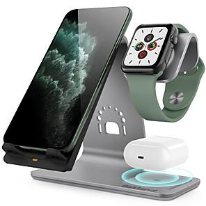 Недорогие Беспроводные зарядные устройства-10 W Беспроводные зарядные устройства 3 в 1 / Беспроводное зарядное устройство Зарядное устройство USB USB Беспроводное зарядное устройство 1 USB порт 2 A / 1.67 A DC 9V / DC 5V для Apple Watch