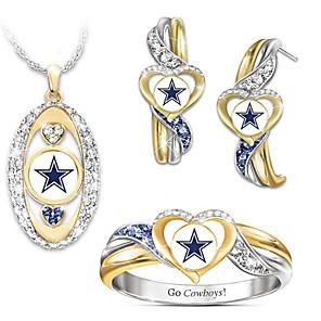 ieftine Cercei-Pentru femei Zirconiu Cubic Seturi de bijuterii de mireasă Geometric Inimă Stilat cercei Bijuterii Curcubeu Pentru Petrecere Cadou 1set / Cercei